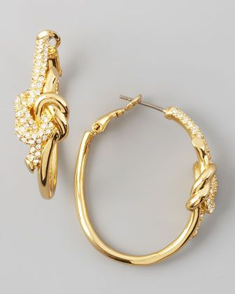Rachel Zoe Pave Love Knot Hoop EarringsBling, Rachel Zoe, Knots Hoop, Hoop Earrings, Jewelry Collection, Accessories, Zoe Launch, Neiman Marcus, Zoe Pave