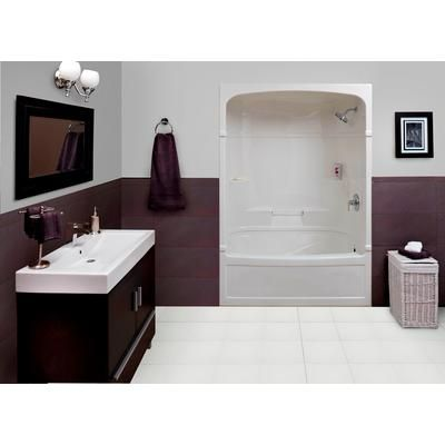 Mirolin victoria 60 inch 3 piece acrylic tub and shower for 4 piece bathroom ideas