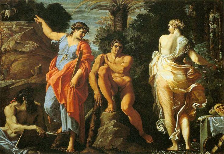 Sciadografie: Citazioni d'Arte - Annibale Carracci e le personificazioni della Virtù e della Voluttà