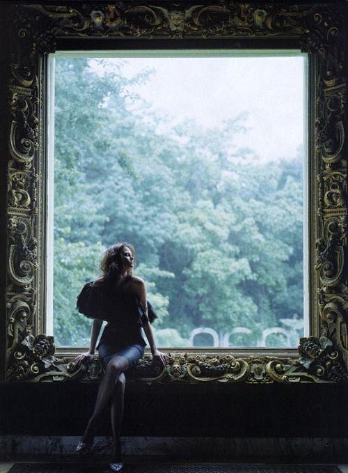 grandiose ornate frame for the window. breathtaking | Elle US September 2003