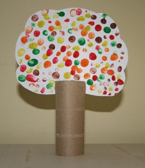 finger paint tree