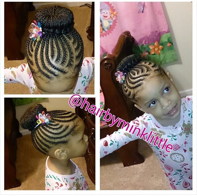 Braids / protective hairstyle / updo / cute / hairstyles for kids / bun / toddle hairstyles