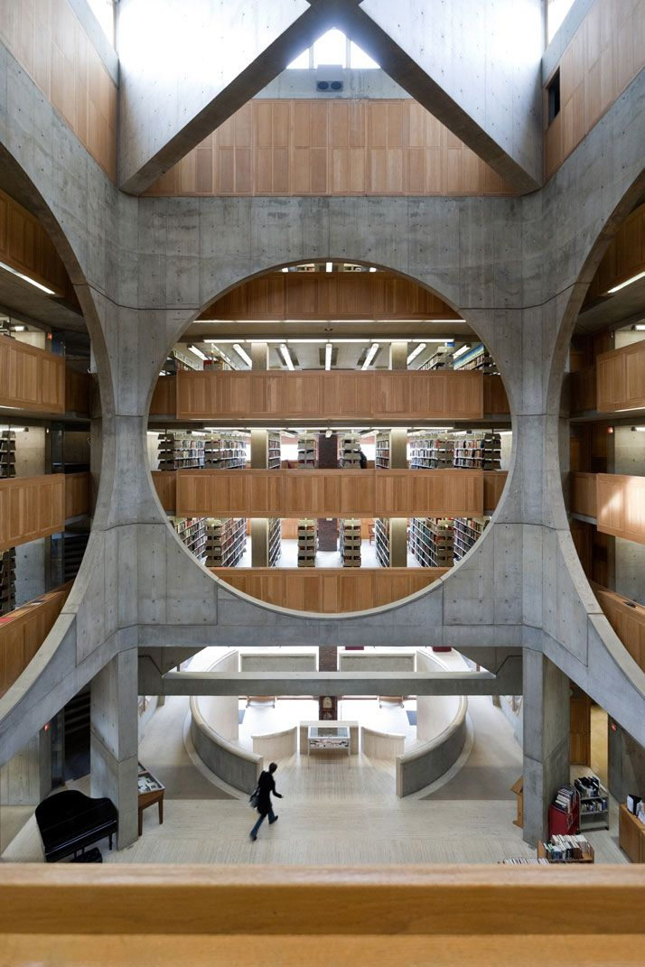 Library, Phillips Exeter Academy, Exeter, New Hampshire, Louis Kahn, 1965–72. © Iwan Baan. http://www.yatzer.com/louis-kahn-the-power-of-architecture