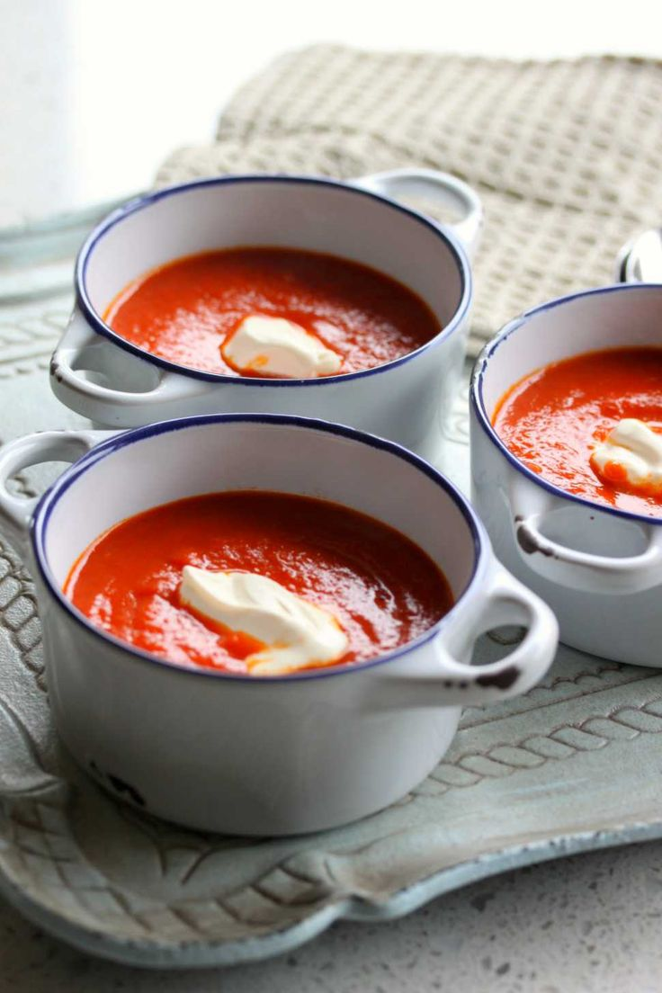 Rich Roasted Tomato Soup - I thinned this out with some of the tomato broth I canned last year, it really boosted the flavour!