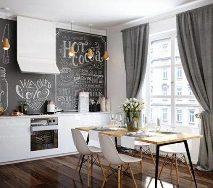 Schwarze Wandfarbe – 17 praktische Ideen mit Tafellack