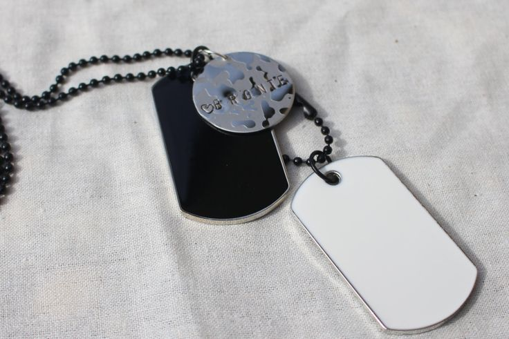 Men's Dog Tag Personalised Round Plate Necklace by Giftitright on Etsy