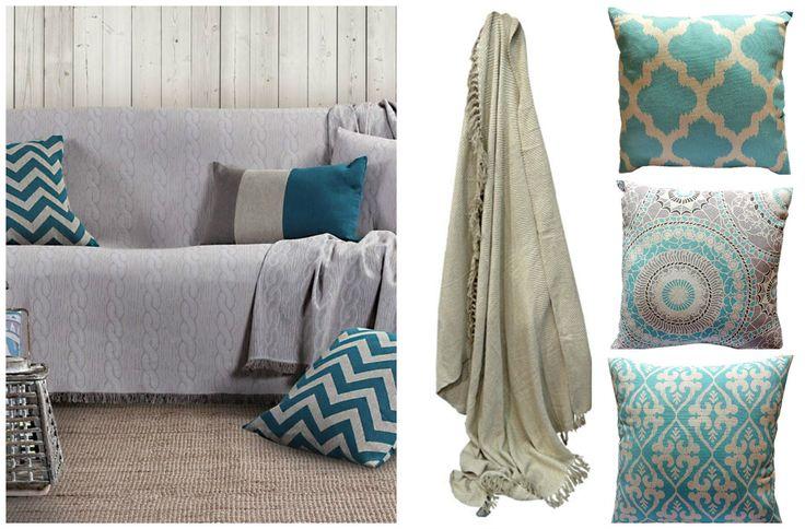 Δώστε νέο αέρα στο σαλόνι σας με λιγότερα από 60€. Αποκτήστε τώρα ένα υπέροχο σετ για τον καναπέ σας που αποτελείται από ένα ριχτάρι και τρία μαξιλάρια.