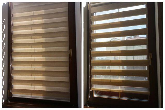 """Рулонные шторы """"день-ночь"""" регулируют проникновение света за счет смещения прозрачных и плотных полосок относительно друг друга, и конечно же убираются полностью в рулон. Могут быть выполнены в любом цвете и фактуре😊"""