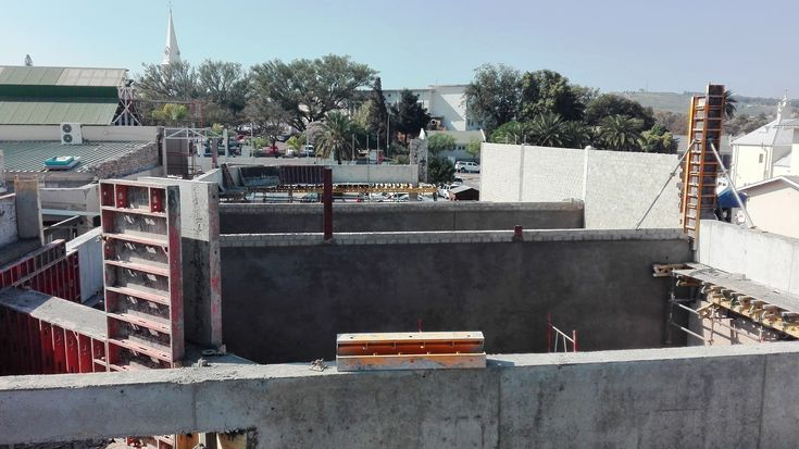 #Construction site  Building  a shopping #mall  roof erection