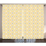 Langhorne Quatrefoil Graphic Print and Text Semi Sheer Rod Pocket Curtain Panels Set of 2 | Staples
