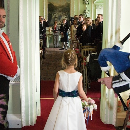 Ceremony in the State Dining Room at Blair Castle.