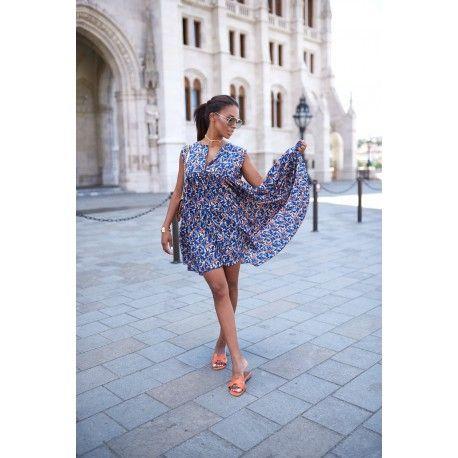 Silk summer short dress, wm ss17