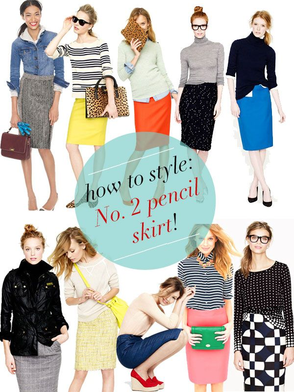 do you j.crew? | a J.Crew style blog: J.Crew: how to style the no. 2 pencil skirt!    I require a sewing machine. And adorable fabrics. And so much more time than I have available.