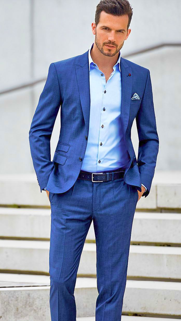 Blue Suit Color Combinations With Shirt and Tie | Mens