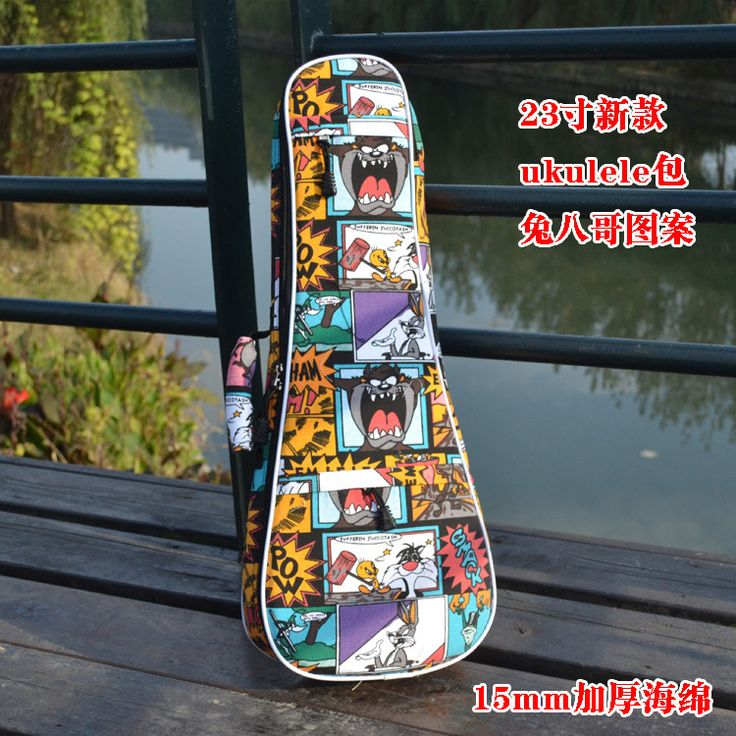 """2015 new fashion personality cartoon 23""""24inch thicker guitarra gig case ukulele bag small guitar backpack children pack  bags"""