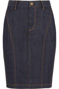 Burberry Brit Stretch-denim pencil skirt   NET-A-PORTER