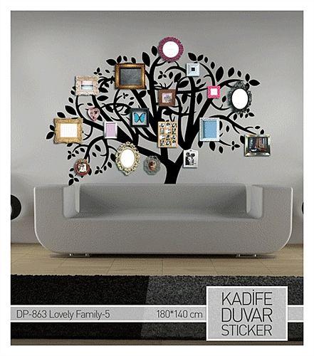 İşte size kocaman ailenizi sığdırabileceğiniz bir dekorasyon önerisi..  Kadife Sticker evini dekore etmek istemesine rağmen çok fazla bütçe ayırmak istemeyenler için ideal bir üründür.. Ürüne ulaşabileceğiniz adres :http://www.artikeldeko.com.tr/?urun-7201-kadife-duvar-sticker-lovely-family-5-180x140-cm