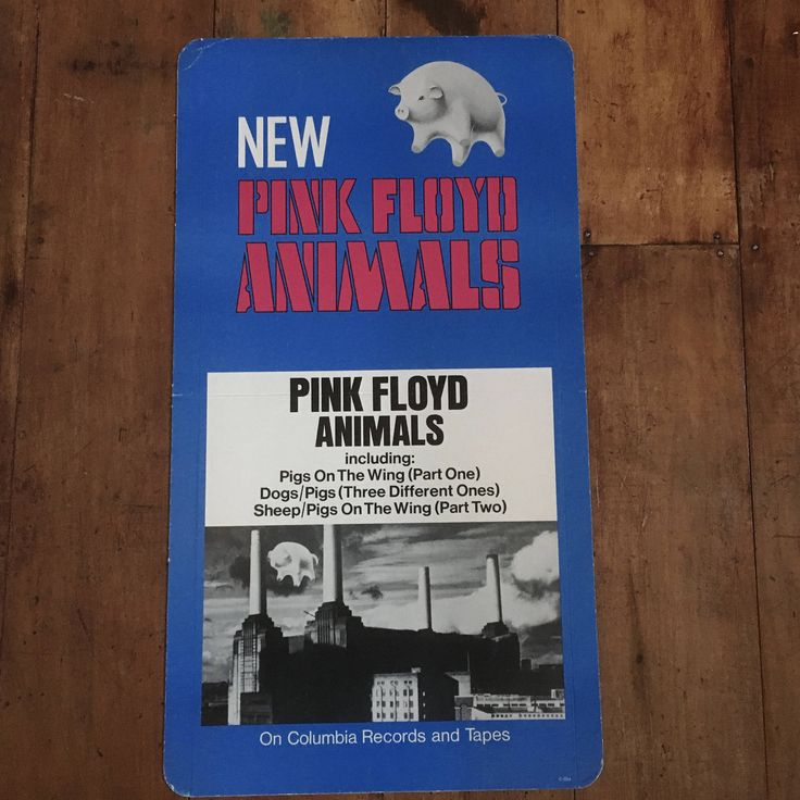 Pink Floyd Animals 1977 Columbia Records & Tape Original Rare Vintage Display Poster by RockPostersTreasures on Etsy