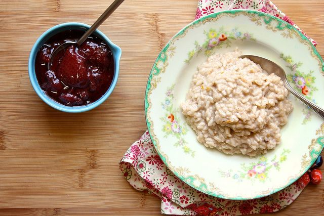 strawberry jam coconut rice pudding- joy the baker