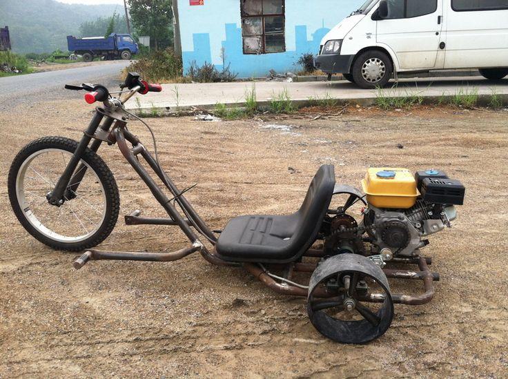 motorized drift trike for adult slider, petrol engine drift trike, motorized go kart, fat tire petrol drift trike