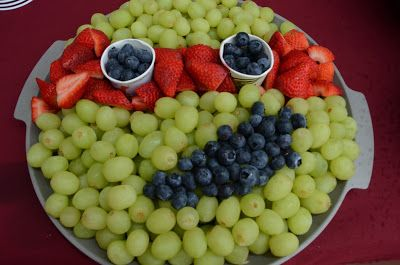 Fruit Tray trying to make it look like a Ninja Turtle LOL.. #grapes #blueberries #strawberries