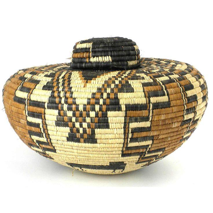 Zulu Wedding Basket   54   Ilala Weavers #Zulu #WeddingBasket #SouthAfrica  #NaturalDyes