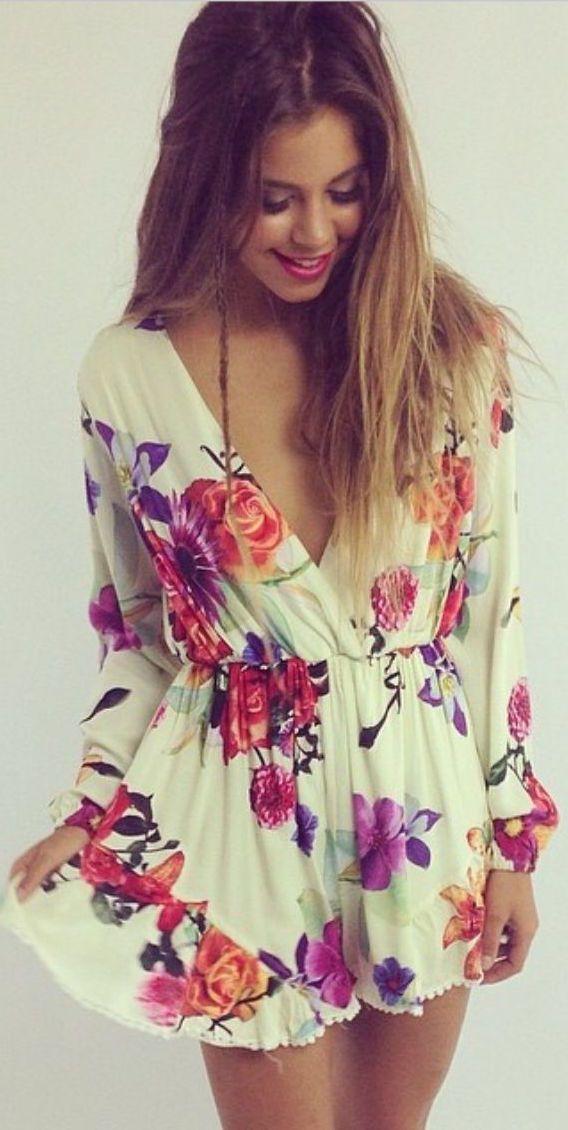 #street #fashion summer flower print dress @wachabuy