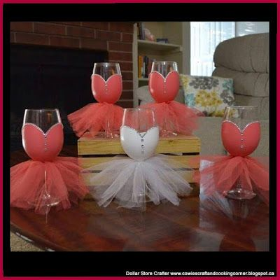 Dollar Store Crafter: Bridal Party Wine Glasses ~ Dont Buy It, DIY It