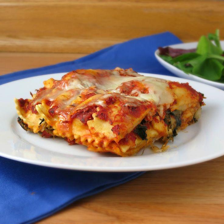 idée de repas rapide et simple- lasagne paresseuse en ravioli