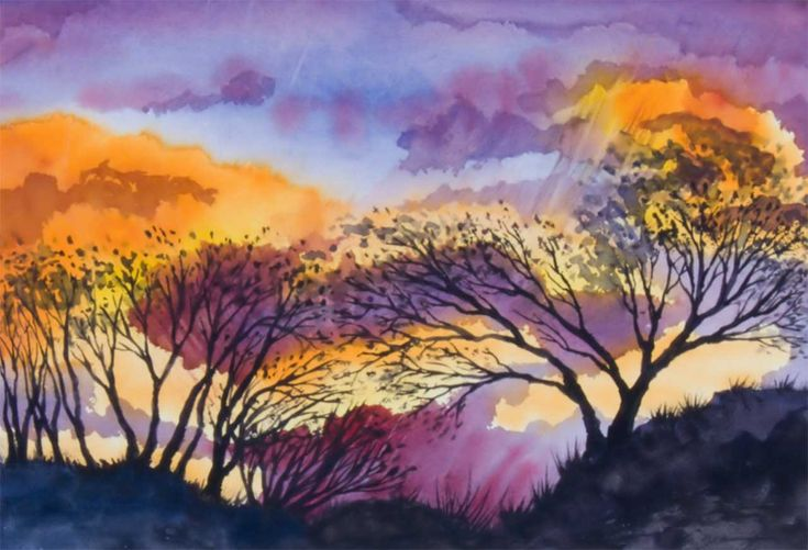 1000 images about art watercolour on pinterest trees for Watercolor scenes beginners