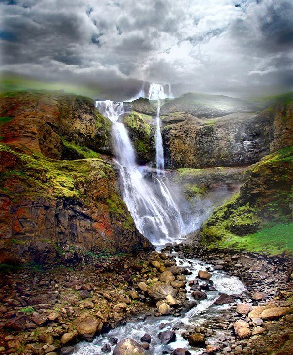 Iceland: Iceland, Waterfalls, Nature, Beautiful Places, Amazing Places, Travel, Landscape, Photo