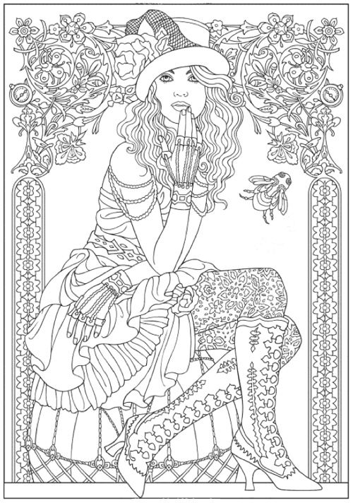Coloring Book For Fashion : 174 best coloring book images on pinterest