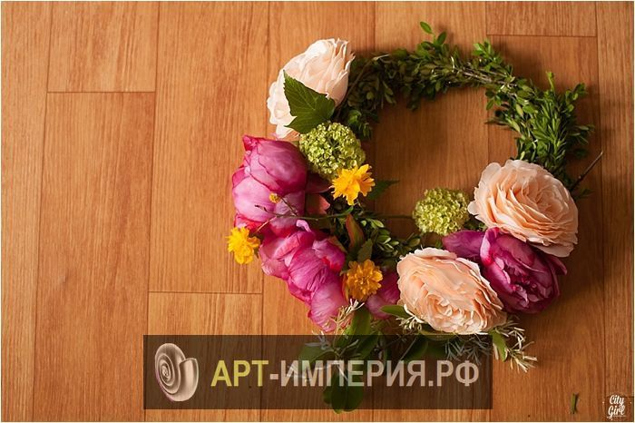 Венок на голову своими руками мастер класс, венок на голову из искусственных цветов своими руками, красивые венки на голову своими руками (2)