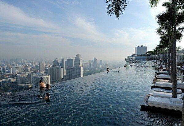 Сингапурский бассейн в Скай Парке