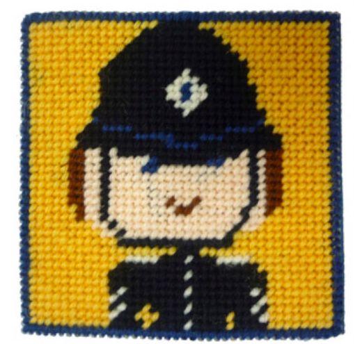 Policeman mini starter tapestry kit