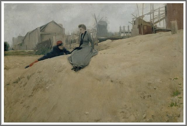 Santiago Rusiñol y Prats (1861-1931), A la Campagne - 1891 Espagne - Chambre De Commerce Franco Espagnole