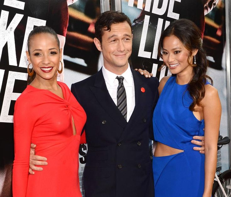 Dania Ramirez, Joseph Gordon-Levitt et Jamie Chung à l'avant-première de Premium Rush
