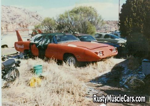 Junkyard Cars For Sale >> Superbird In A Junkyard In Az Post Rusty Muscle Car Photos
