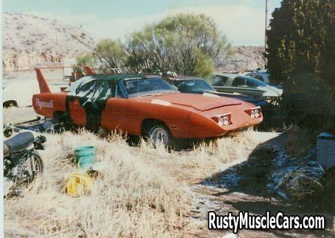 Superbird in a junkyard in AZ - post rusty muscle car ...
