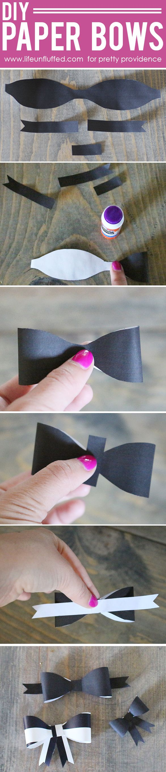 Free printable paper bow template!! Never have a bow-less gift again! Love this so much!