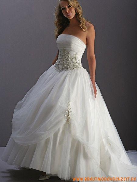 Schönes Brautkleid frankfurt aus Tüll mit Applikation A-Linie online 2013