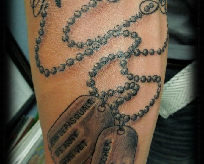 9 best images about tattoo ideas on pinterest dads for Dog tag tattoo