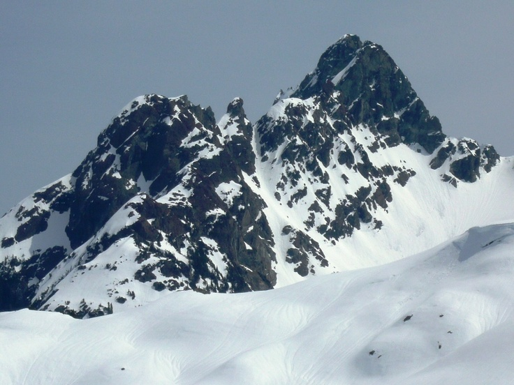Long John Silver... an aesthetic ski line in Strathcona Provincial Park on Vancouver Island.