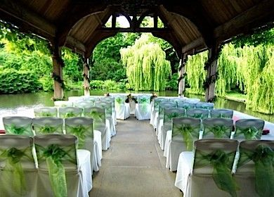 The tranquil lakeside wedding setting at the Dairy in Waddesdon Manor, North Cornwall. I adore this setting!