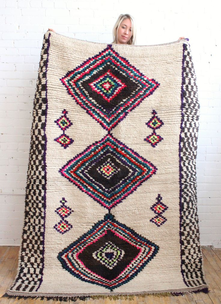 This rug!! Moroccan azilal wool rug from Baba Souk
