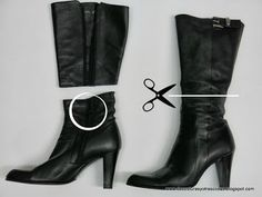 Transforma tus botas en unos modernos botines. Paso a paso