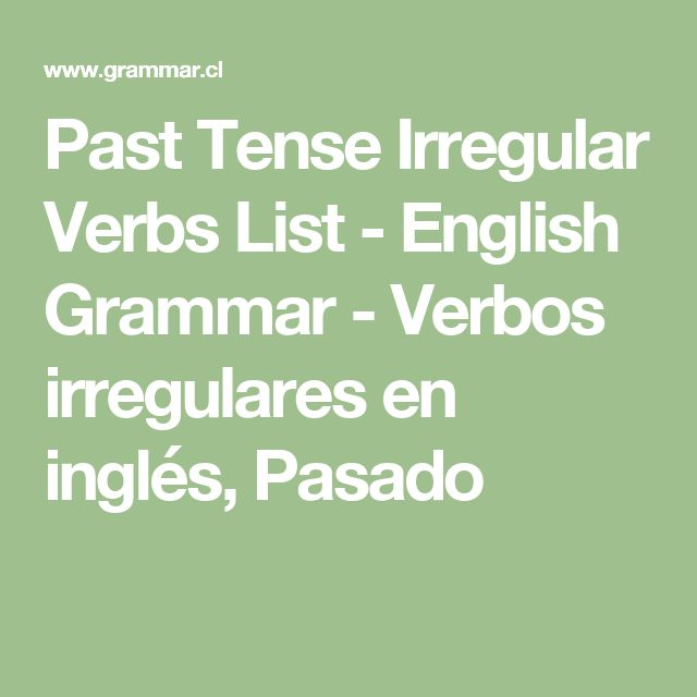 list of irregular verbs past tense pdf