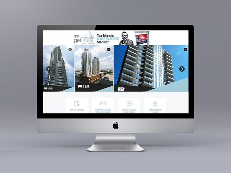 Website makeover for Edmonton Realtor Jakie Ng. This website features 10 pre-sale condos in the clickable banner of the website and probably the coolest building pages on an Ubertor website.