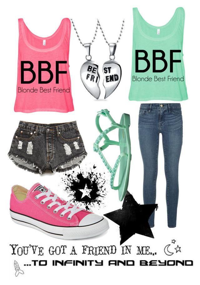 """#BFF"" by daniela-pintea ❤ liked on Polyvore"