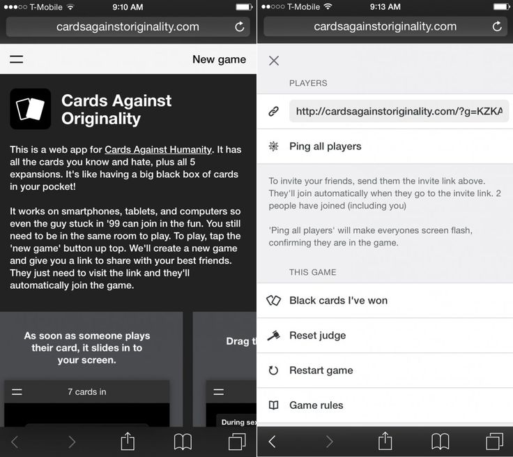 How to play Cards Against Humanity for free on your phone  Read more: http://www.businessinsider.com/cards-against-humanity-iphone-app-cards-against-originality-2015-3#ixzz3TvMPKoeN